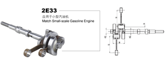 Small-scale gasoline engine crankshaft